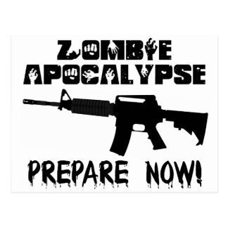 La apocalipsis del zombi ahora se prepara postal