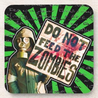 La apocalipsis del zombi, no alimenta a zombis posavasos