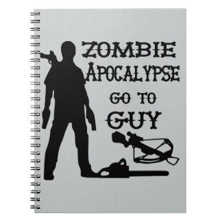 La apocalipsis del zombi va al individuo (las libretas