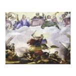 La apoteosis de George Washington - guerra Impresión En Lienzo Estirada