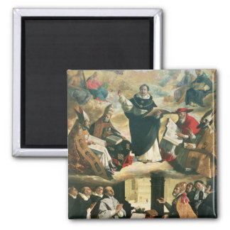 La apoteosis de St Thomas Aquinas, 1631 Imán Cuadrado