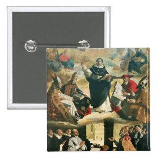 La apoteosis de St Thomas Aquinas, 1631 Pin Cuadrado