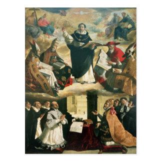 La apoteosis de St Thomas Aquinas, 1631 Postales