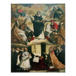 La apoteosis de St Thomas Aquinas, 1631 Póster