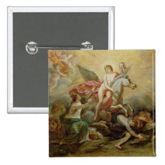 La apoteosis de Voltaire, 1778 Pin Cuadrada 5 Cm
