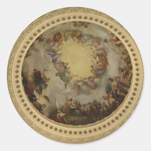 La apoteosis del capitolio de Washington de la Pegatina Redonda