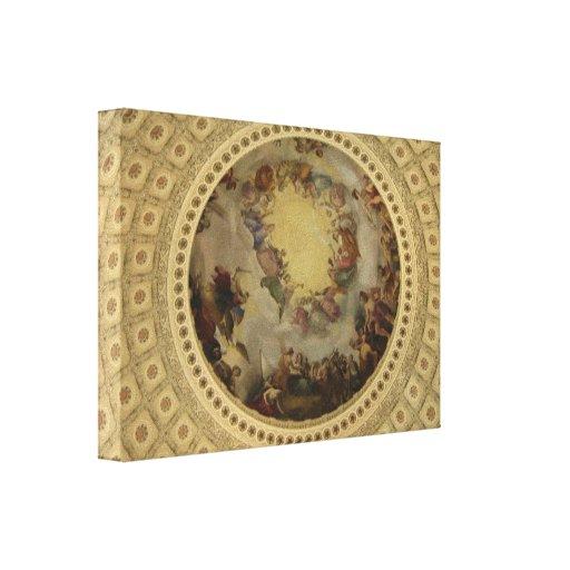 La apoteosis del capitolio de Washington de la Rot Lona Envuelta Para Galerías