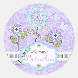 La Applique-mirada florece el iris del pegatina de