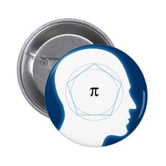 La aproximación de Arquímedes de la matemáticas Pin Redondo De 2 Pulgadas