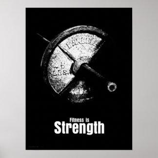 La aptitud es - fuerza póster
