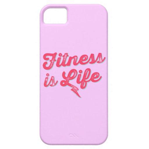 La aptitud es motivación de la aptitud de las rosa iPhone 5 Case-Mate coberturas