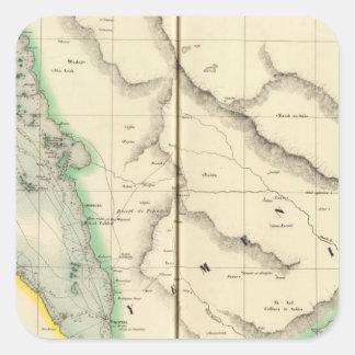La Arabia Saudita, Asia 100 Pegatina Cuadrada
