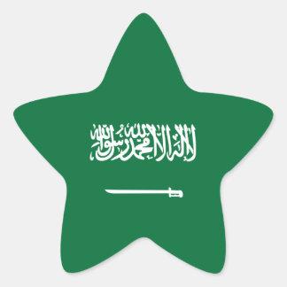 La Arabia Saudita/bandera árabe Pegatina En Forma De Estrella