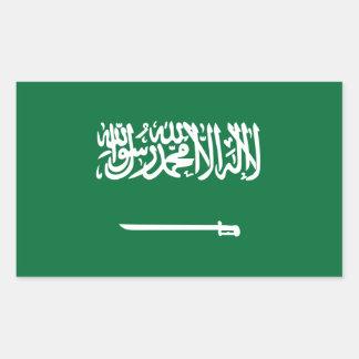La Arabia Saudita/bandera árabe Pegatina Rectangular