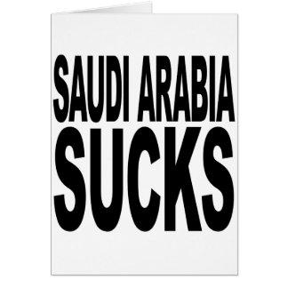 La Arabia Saudita chupa Tarjeta De Felicitación