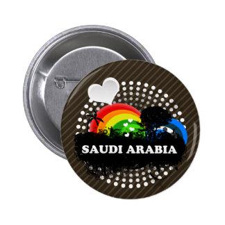 La Arabia Saudita con sabor a fruta linda Pin Redondo De 2 Pulgadas
