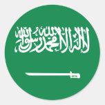La Arabia Saudita, la Arabia Saudita Etiquetas Redondas
