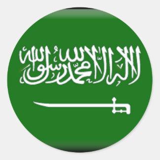 La Arabia Saudita Etiqueta Redonda