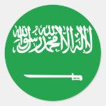 La Arabia Saudita Pegatina Redonda