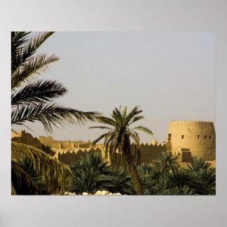La Arabia Saudita, Riyad, ciudad vieja del al-Diri Poster