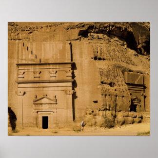 La Arabia Saudita, sitio de Madain Saleh, 3 antigu Poster