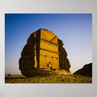 La Arabia Saudita, sitio de Madain Saleh, 4 antigu Poster