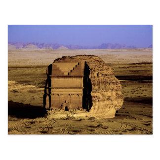 La Arabia Saudita, sitio de Madain Saleh, antiguo Tarjeta Postal