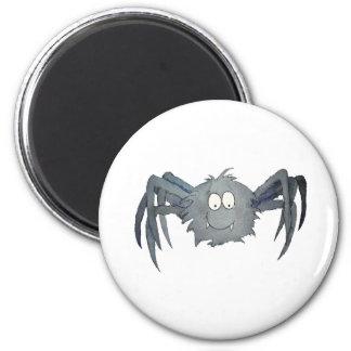 La araña caprichosa linda añade su texto o lo nomb imán redondo 5 cm