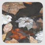 La araña fantasmagórica en caída flotante se va en calcomanía cuadradas personalizada