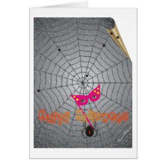 La araña - Halloween Tarjeta