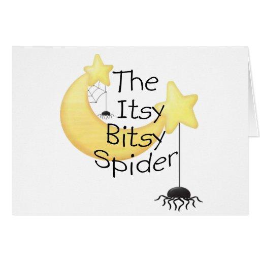 La araña itsy de Bitsy Felicitaciones