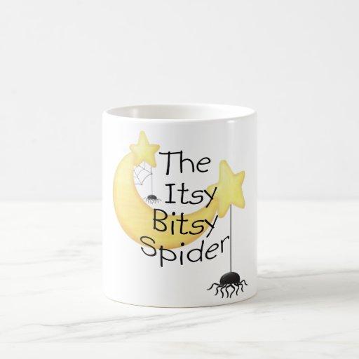 La araña itsy de Bitsy Taza Básica Blanca