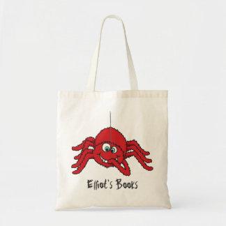 La araña roja de la diversión embroma la bolsa de