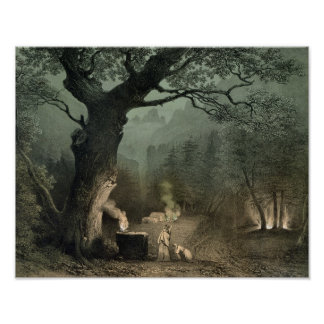La arboleda sagrada de los druidas poster