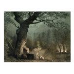 La arboleda sagrada de los druidas tarjeta postal