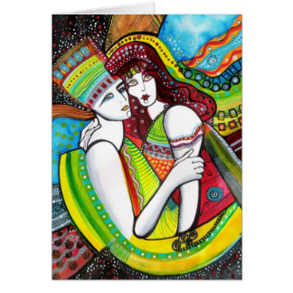 La arca de amor tarjeta de felicitación