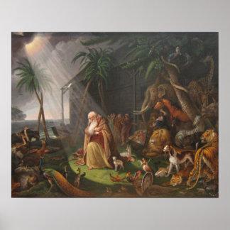La arca de Noah de Charles Wilson Peale - circa 18 Póster