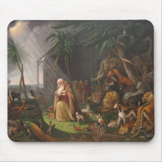 La arca de Noah de Charles Wilson Peale - circa 18 Tapete De Ratón