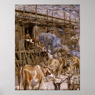 La arca de Noah de James Tissot - circa 1900 Póster