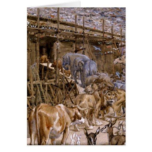 La arca de Noah de James Tissot - circa 1900 Felicitacion
