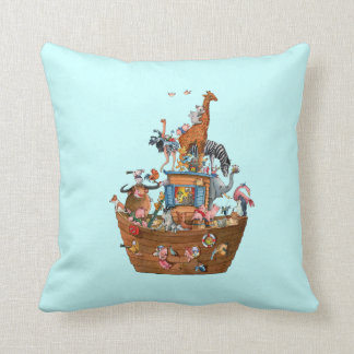 La arca de Noah de los animales - almohada de tiro Cojín Decorativo