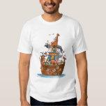 La arca de Noah de los animales - camiseta Camisas