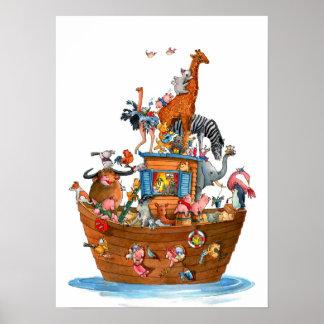 La arca de Noah de los animales - poster Póster