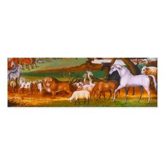 La arca de Noah de los catetos de Edward Tarjeta De Visita