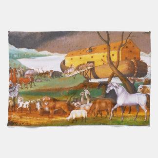 La arca de Noah de los catetos de Edward Toallas De Cocina