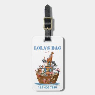 La arca de Noah embroma la etiqueta de Luggade Etiqueta De Maleta