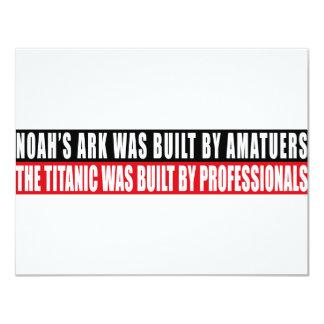 """La arca de Noah era bult por Amatuers… Invitación 4.25"""" X 5.5"""""""