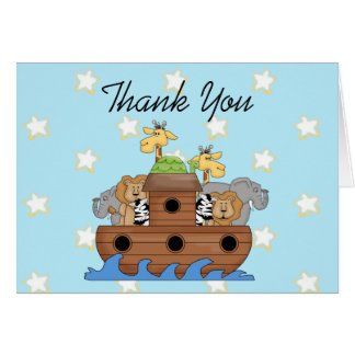 La arca de Noah le agradece las notas Tarjeta De Felicitación