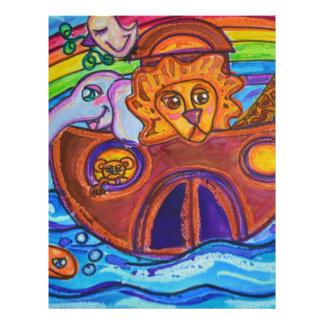 La arca de Noah Membretes Personalizados