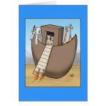 La arca de Noah - ningunos gatos permitidos Felicitacion